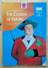 The Comedy Of Errors programme Norwich Theatre Royal 1992 Basil Hoskins RSC