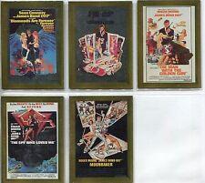 James Bond Connoisseurs Collection Volume 2 Complete Metalworks Card Set P7-11
