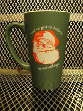 SANTA Christmas 2007 ~ FLYING SAUCER Draught Emporium ~ Ceramic Beer Glass Mug H