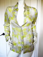cd3440815043f6 $705 DRIED VAN NOTEN CAPIO SILK BLEND YELLOW FLORAL SHIRT BLOUSE SIZE: 36 /  4