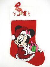 """Disney Minnie Mouse Christmas Holiday Stocking Xmas Red 19"""" Ruz"""