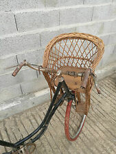 RARE porte enfant bebe en osier vers 1920 old french vintage bike
