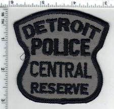 Detroit Police (Michigan) Central Reserve Uniform Take-Off Shoulder Patch 1980's