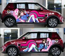 Girl OW D.Va Manga Anime Car Door Decal Vinyl Sticker Full Color Fit Any Car