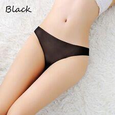 Damen Slim Schlüpfer Transparente Unterwäsche Solid Seamless Thongs G-Strings