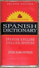 RANDOM HOUSE ~ SPANISH VEST POCKET DICTIONARY ~ 2nd ED ~ OVER 30,000 ENTRIES