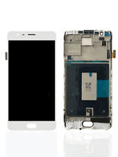 OnePlus 3 Three A3000 A3003 LCD Display Touch Screen Digitizer + Frame - White