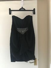 Asos Women's Bodycon Corset Style Black Party Dress Size 10 Fully Lined