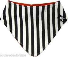 87034 Black White Striped Bandana Baby Bib Sourpuss Infant Feeding Retro NEW
