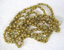 "Old Gold Mercury Glass Double Bar Bead Christmas Garland 85"" 5/8"" Beads Gld6"