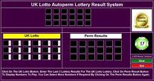 USB DATA STICK UK Lotto AUTOPERM Lottery System