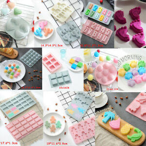 Cake Jelly Cookies Soap Mold Chocolate Baking Decorating Mould Tray Wax Ice Cube