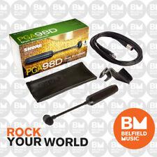Shure PGA98D Microphone Condenser Drum Mic Gooseneck w/ XLR-XLR Cable PG-98D
