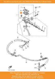 YAMAHA Diaphragm, Reservoir, 1AE-26454-00 OEM FJ1200 FZR1000 FZ750 FZX750 VMAX12