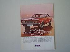 advertising Pubblicità 1971 FORD TAUNUS GXL