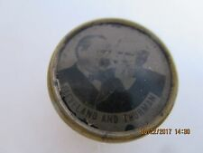 """1888 METAL PICTURE TAB 3/4"""" GROVER CLEVELAND & THURMAN JUGATE GC3185"""