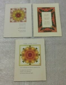 Floral Flowers Greeting Cards Blank Birthday Let it Shine Your Light Lot 3