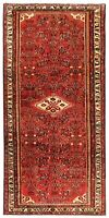 "Hand Knotted Tribal Red Runner Wool Nomadic Hamedan Oriental Rug 3'7"" x 10'"