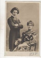 Jan Kubelik & Wife Countess Csaky Szell Music 1904 RP Postcard 630b