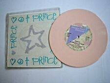 """PRINCE If I Was Your Girlfriend UK 7"""" single inserts+sticker 1987 pink vinyl ex+"""