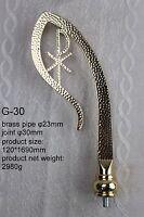 """BRASS CROZIER Polish Bishop Staff Crosier Quality Craftsmanship, 66"""" High G-30"""