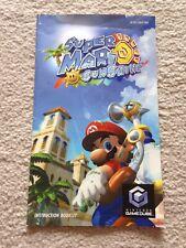 Manual Only (no Game)- Super Mario Sunshine - Nintendo GameCube - NGC