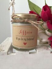 Handmade And Personalised Will You Be My Bridesmaid Candle