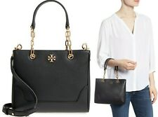 $498 Tory Burch Marsden Small Tote Women's Leather Shoulder Bag Handbag in Black