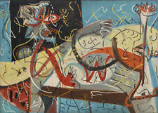 "Jackson Pollock-  Stenographic Figure - HD Print on Canvas  22""x30"""