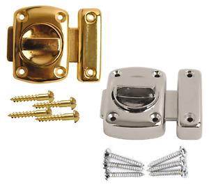 Bathroom Door Lock Chrome or Brass Toilet Turn Twist Bolt Privacy Catch Latch