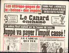 CANARD ENCHAINÉ Birthday Newspaper JOURNAL NAISSANCE 11 SEPTEMBRE SEPTEMBER 1996