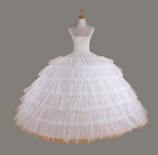 Petticoat crinoline hoopless underskirt Wedding petticoat prom white 7-hoop