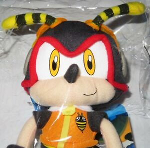 """NEW 8.5"""" ORIGINAL LICENSED GE CHARMY BEE PLUSH SOFT TOY SONIC THE HEDGEHOG RARE"""