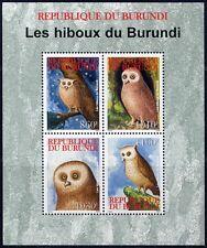 Burundi 2009 Eulen Owls Vögel Birds Block Postfrisch MNH