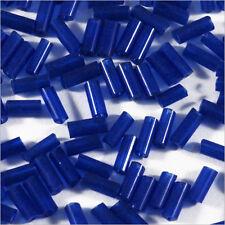 Perles de Rocailles Tubes en verre Transparent 4x2mm Bleu 20g