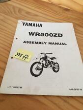 Yamaha WR500ZD 1991 WR500 Zd-415 Wr 500 Instruction Setup Preparation Manual
