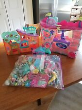 littlest pet shop lot of houses, pets and accessories