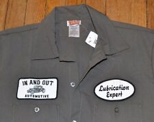 In and Out Automotive Lubrication Expert Button Down Casual Short Sleeve Shirt