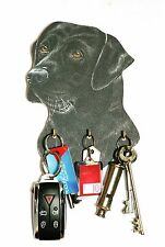 Black Labrador Key Rack or Lead Hanger Hand Made in UK Ideal Gift