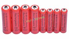 4 AA 3000mAh + 4 AAA 1800mAh 1.2V NI-MH Rechargeable Battery 2A 3A Red Cell USA