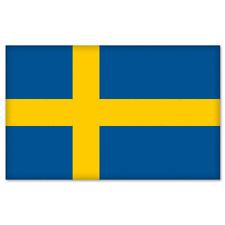 "Sweden Swedish National Flag car bumper sticker 5"" x 4"""