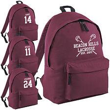 Beacon Hills Lacrosse Mochila-Teen Wolf McCall Escuela College Bolso Stilinski