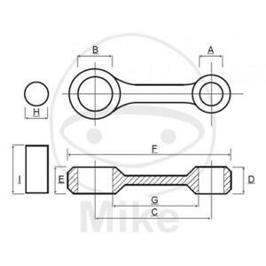 BIELLA PER ALBERO MOTORE PROX 756.05.15 PER KTM 125 SX 2T 1998-2015
