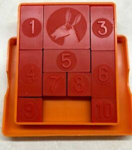 "Vintage  Pocket Brainteaser Logic Game USSR puzzle ""Stubborn donkey"""