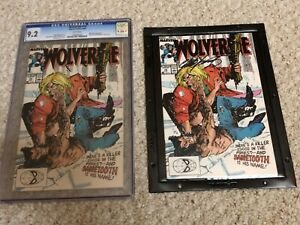 Wolverine #10 CGC 9.2 1989 - key Sabretooth - Plus copy signed by Claremont!