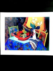 """ITZCHAK TARKAY~TOO COLD AT HOME~2013 LITHOGRAPH W COA~9 3/8""""  X 7""""~NEW UNFRAMED"""