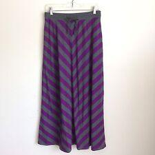 Women's Old Navy Purple & Gray Striped Maxi Skirt Small