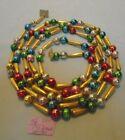 Christmas Garland Mercury Glass, Mixed, 79' Long, Mixed Beads, #76, Vintage