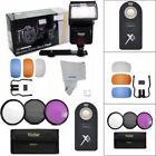 LED AF FLASH  HD FILTER KIT  REMOTE FOR NIKON D3400 D5600 D7000 D40 D50 D60