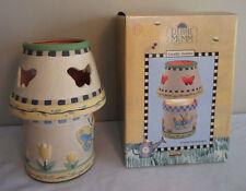 Debbie Mumm Ceramic Butterfly Candle Holder Lamp Garden Of Plenty Collection